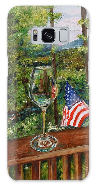Star Spangled Wine - Fourth Of July - Blue Ridge Mountains Galaxy Case