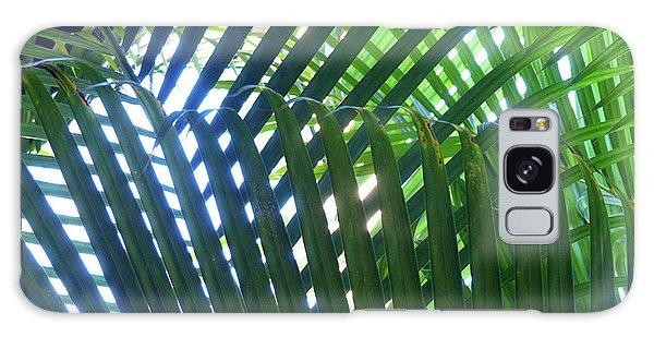 Patterned Palms Galaxy Case