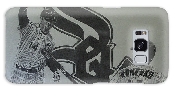 Paul Konerko Collage Galaxy Case