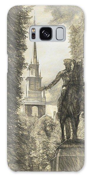 Paul Revere Rides Sketch Galaxy Case