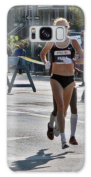Paula Radcliffe Nyc Marathon Galaxy Case by Terry Cork