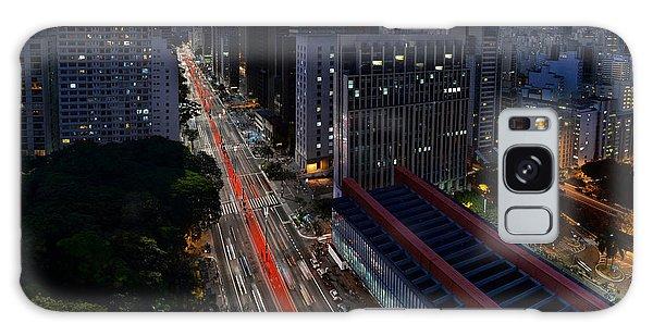 Paulista Avenue And Masp At Dusk - Sao Paulo - Brazil Galaxy Case