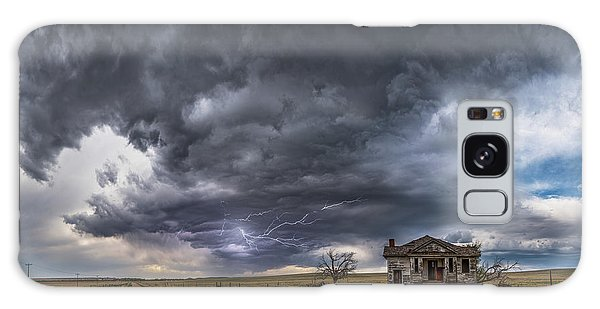 Galaxy Case featuring the photograph Pawnee School Storm by Darren White