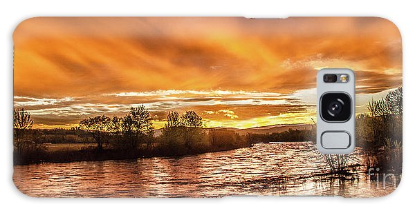 Payette River Sunrise Galaxy Case by Robert Bales