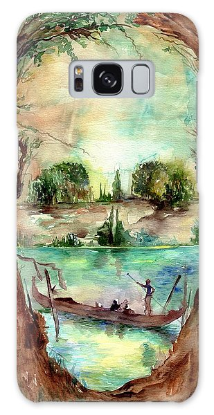 Symbolism Galaxy Case - Paysage With A Boat by Suzann's Art