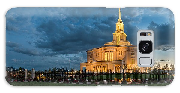Payson Temple Panorama Galaxy Case