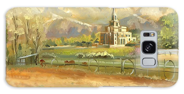 Payson Temple Plein Air Galaxy Case