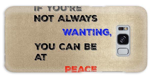 Peace #2 Galaxy Case