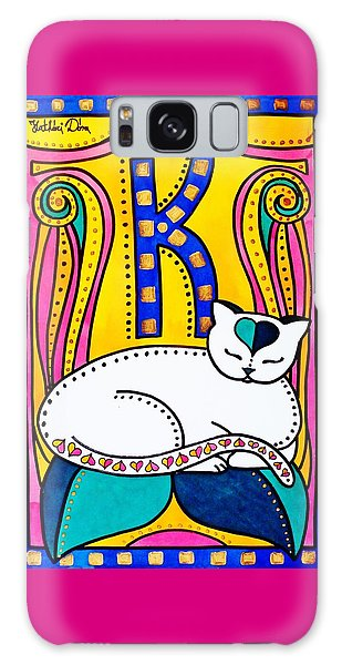 Peace And Love - Cat Art By Dora Hathazi Mendes Galaxy Case
