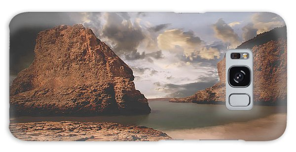 Sea Stacks Galaxy Case - Peace And Love by Laurie Search