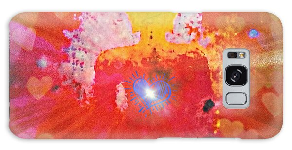 Peace And Love Meditation Galaxy Case
