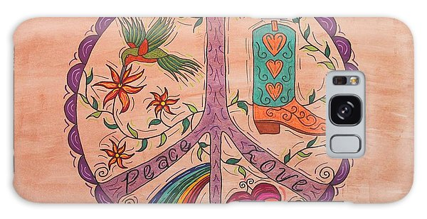 Peace And Love Western Style Galaxy Case by Susie WEBER