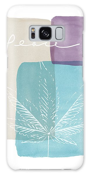 Peace Cannabis Leaf Watercolor- Art By Linda Woods Galaxy Case by Linda Woods