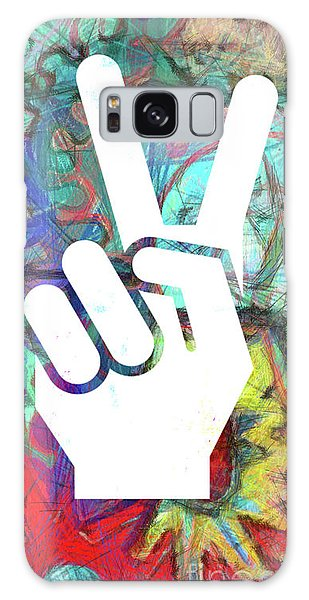 Peace Galaxy Case - Peace Hand Sign 1  by Edward Fielding