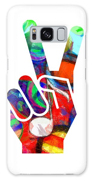 Peace Hippy Paint Hand Sign Galaxy Case