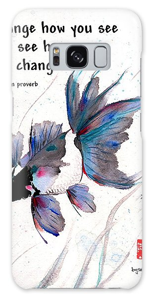 Peace In Change With Zen Proverb Galaxy Case