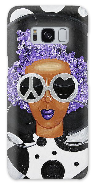 Galaxy Case featuring the painting Peace, Love, Polka Dots by Aliya Michelle