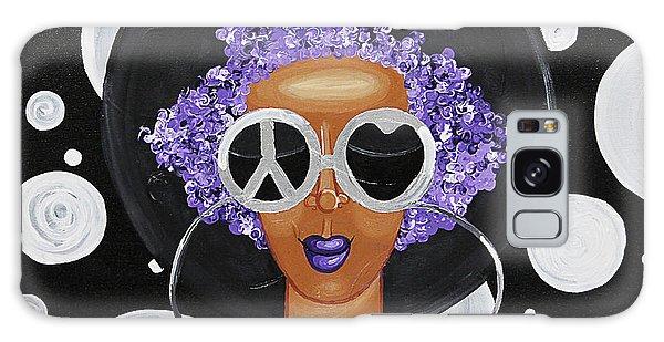 Peace, Love, Polka Dots Galaxy Case