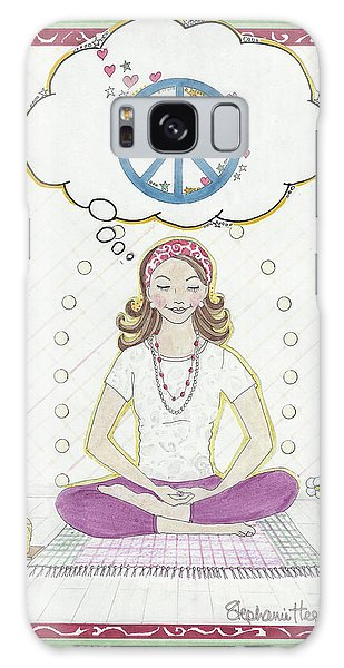 Peace Meditation Galaxy Case