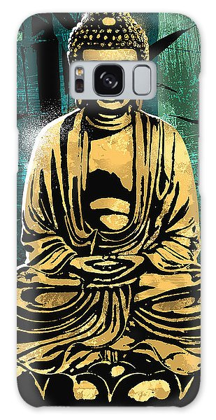 Buddhism Galaxy Case - Peace Of Gold by Canvas Cultures