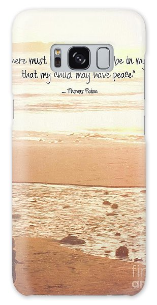 Galaxy Case featuring the photograph Peace by Peggy Hughes
