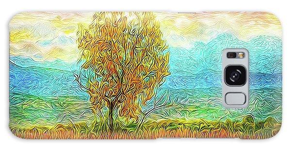 Peace Tree Sunset Galaxy Case