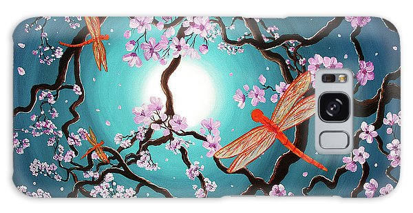 Peace Tree With Orange Dragonflies Galaxy Case