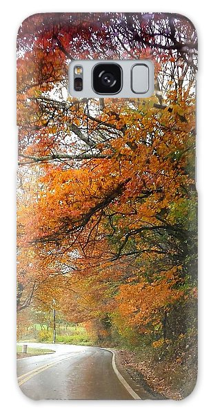 Peaceful Autumn Road Galaxy Case