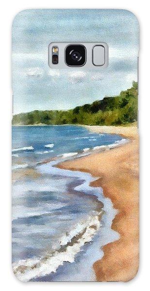 Peaceful Beach At Pier Cove Ll Galaxy Case