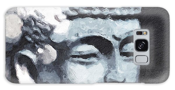 Buddhism Galaxy Case - Peaceful Buddha 3- Art By Linda Woods by Linda Woods