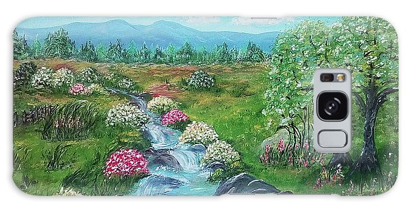 Galaxy Case featuring the painting Peaceful Meadow by Sonya Nancy Capling-Bacle