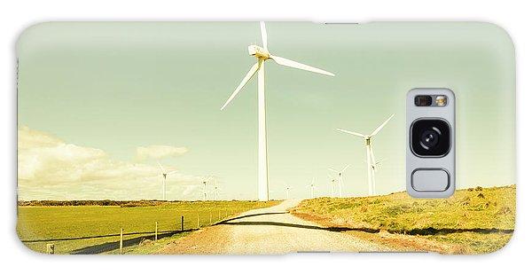 Breeze Galaxy Case - Peaceful Pastel Wind Farm by Jorgo Photography - Wall Art Gallery