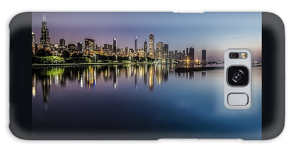 Peaceful Summer Dawn Scene On Chicago's Lakefront Galaxy Case