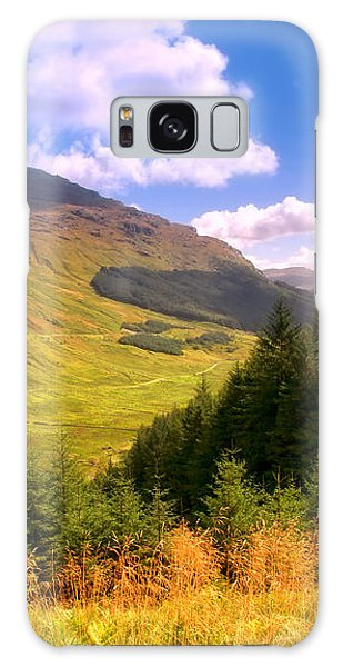 Peaceful Sunny Day In Mountains. Rest And Be Thankful. Scotland Galaxy Case