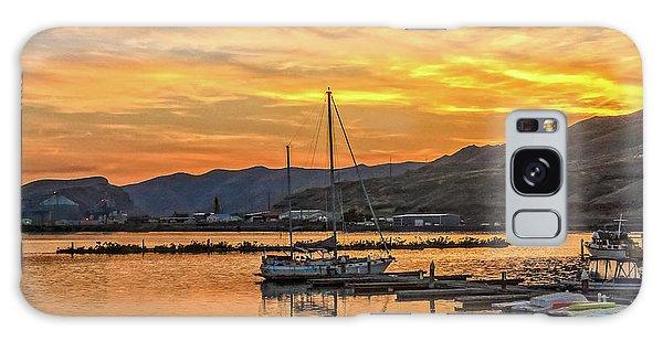 Haybale Galaxy Case - Peaceful Sunset Over Clarkston Marina by Robert Bales
