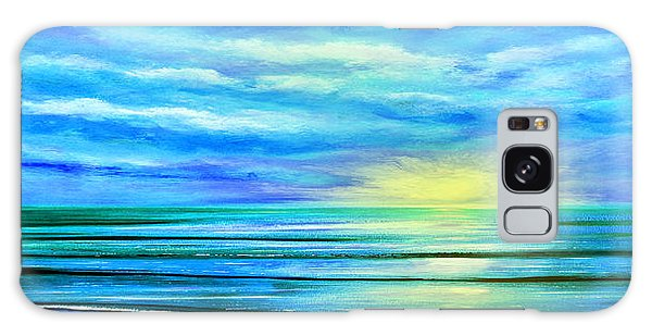 Peacefully Blue - Panoramic Sunset Galaxy Case