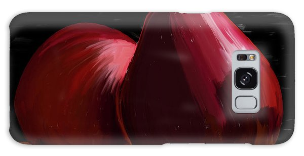 Peach And Pear 01 Galaxy Case by Wally Hampton