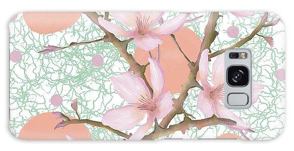 Peach Blossom Pattern Galaxy Case
