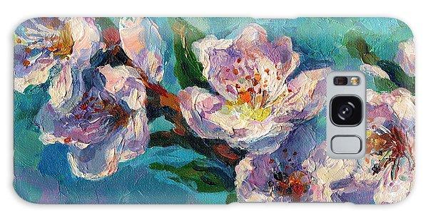 Russian Impressionism Galaxy Case - Peach Blossoms Flowers Painting by Svetlana Novikova