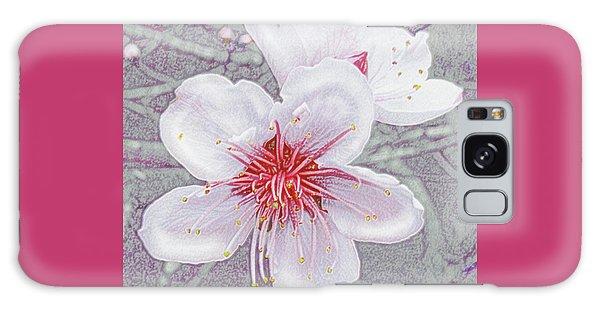 Peach Blossoms Galaxy Case by Jane Schnetlage