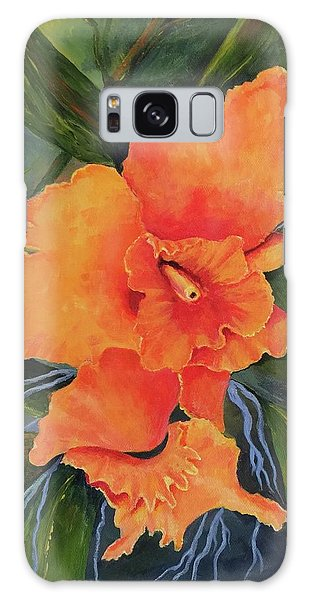 Peach  Blush Orchid Galaxy Case