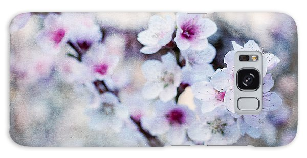 Peach Flowers Galaxy Case by Laura Melis