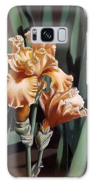 Peach Iris Galaxy Case