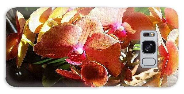 Peach Orchid Blossoms Galaxy Case