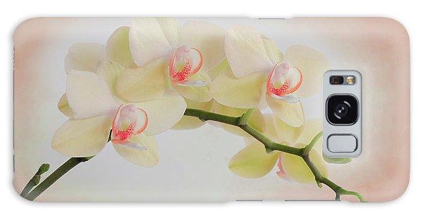 Peach Orchid Spray Galaxy Case
