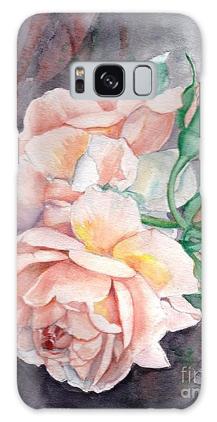 Peach Perfect - Painting Galaxy Case by Veronica Rickard