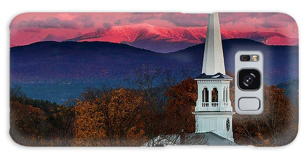 Peacham And White Mtn Sunset Galaxy Case by Tim Kirchoff