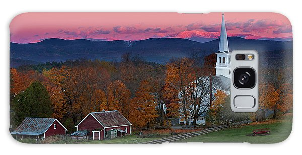 Peacham Village Fall Evening Galaxy Case