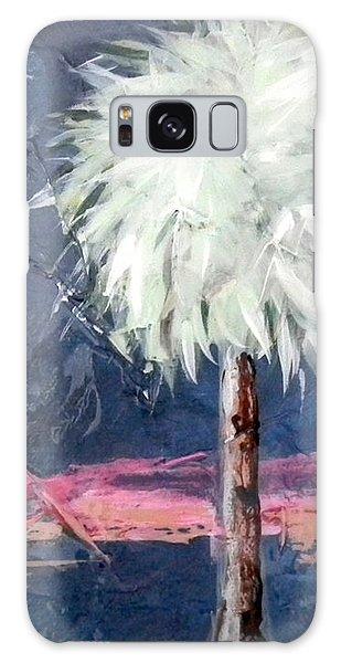 Peachy Horizons Palm Tree Galaxy Case