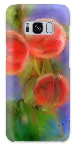Peachy Keen Galaxy Case by Colleen Taylor